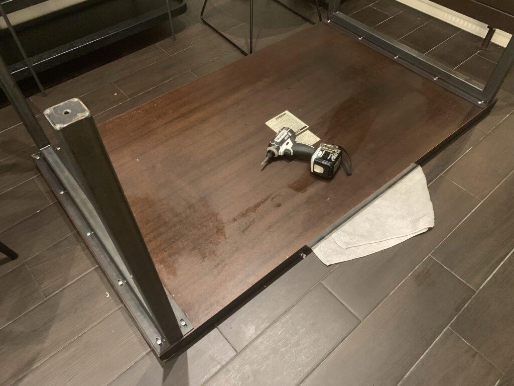 テーブル脚交換DIY